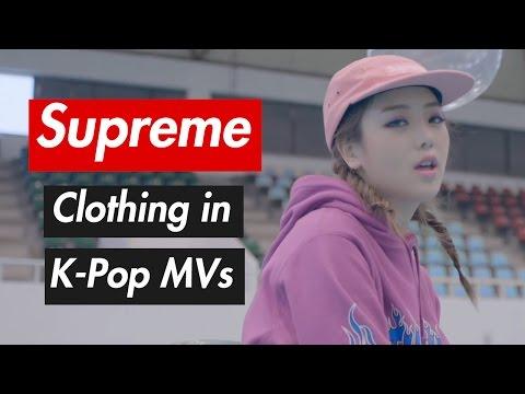 Supreme Clothing in K-Pop MVs