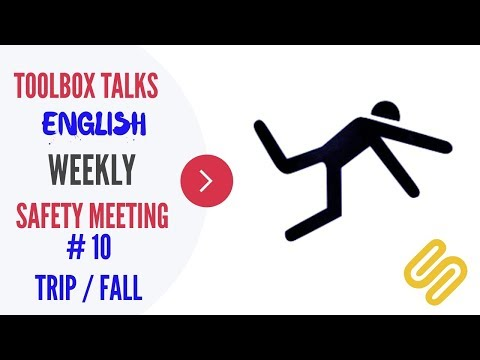 #10 Trips/Fall - Weekly Safety Meeting - Toolbox Talk Meeting Topics