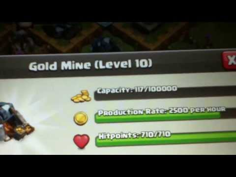 Clash Of Clans: Gold Mine In Elixir Collector Level 10