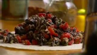 Spicy Mexican Black Bean Quesadilla (حلال)