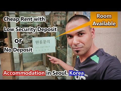 How to find cheap accommodation in Seoul, Korea.