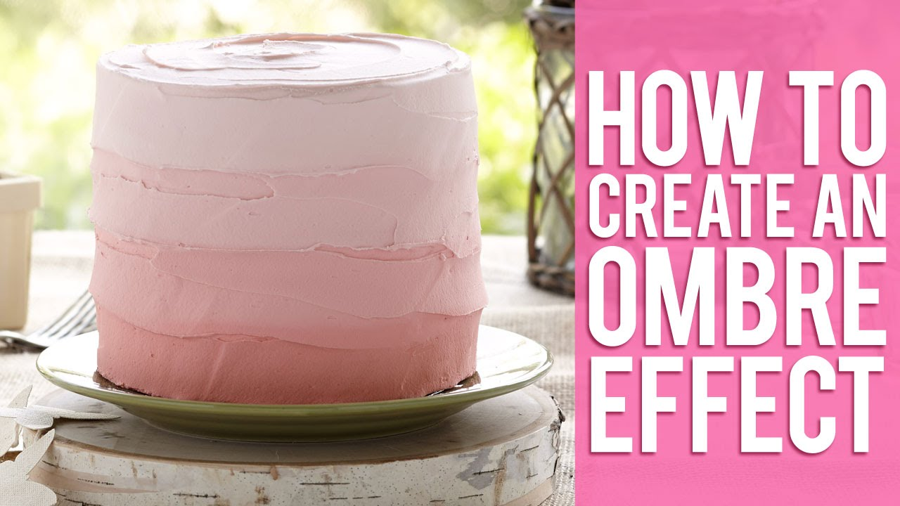 Create an Ombre Effect with Buttercream - YouTube