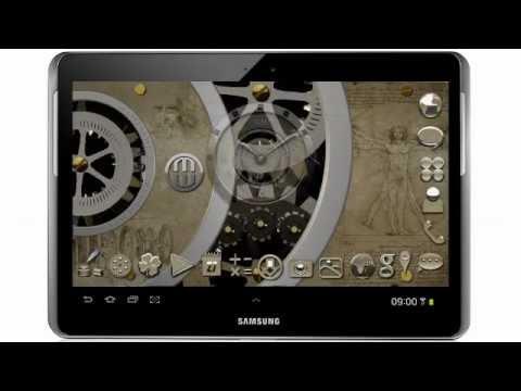 HD live wallpaper Davinci (new android apps 2013, clockwork HD live wallpaper 2013) - YouTube