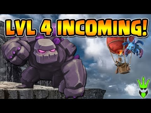 LEVEL 4 GOLEMS INCOMING! - Let's Play TH9 - Clash of Clans - TH9 Loonion Farming