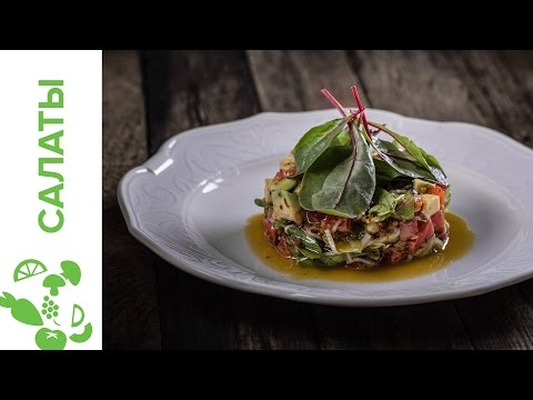 Соленая семга салат с фото