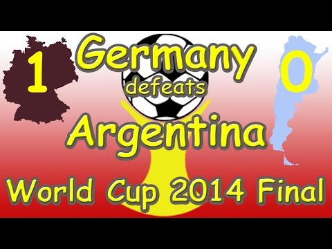 World Cup 2014 Final Germany vs Argentina 1 - 0 (July 13th 2014 GER v ARG)