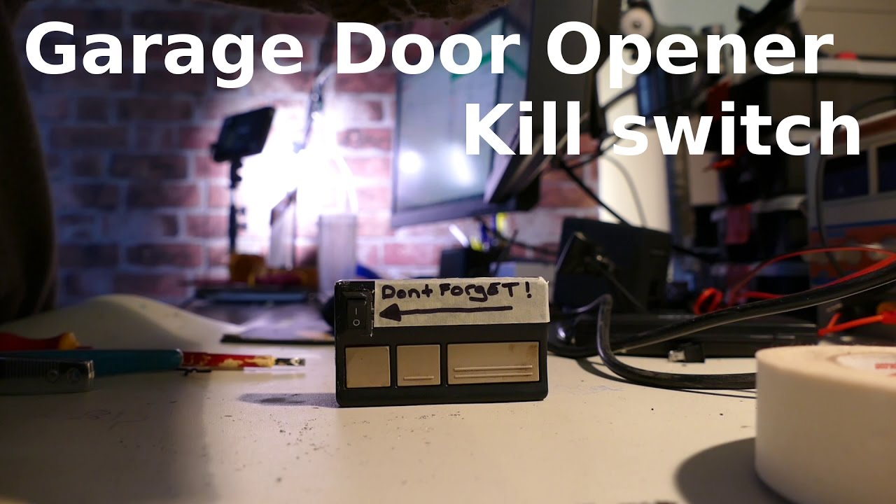 Diy garage door opener modification hack kill switch for Garage modification
