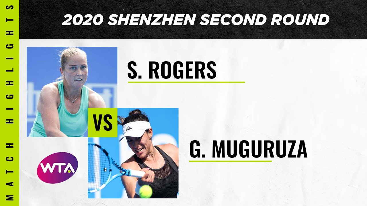 Shelby Rogers vs. Garbiñe Muguruza | 2020 Shenzhen Open Second Round | WTA Highlights