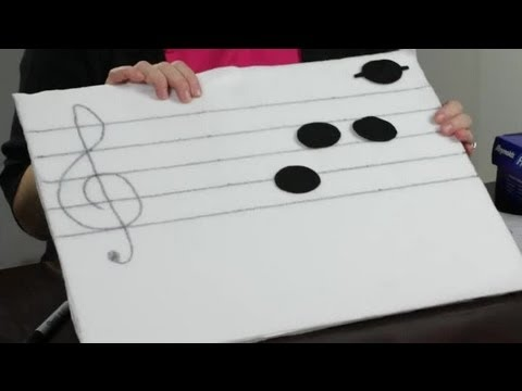 How to Make a Musical Staff Felt Board : Felt Craft Projects