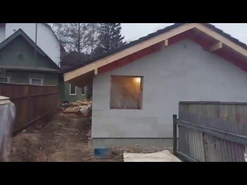 Видео о строительстве бани из газобетона в Королёве
