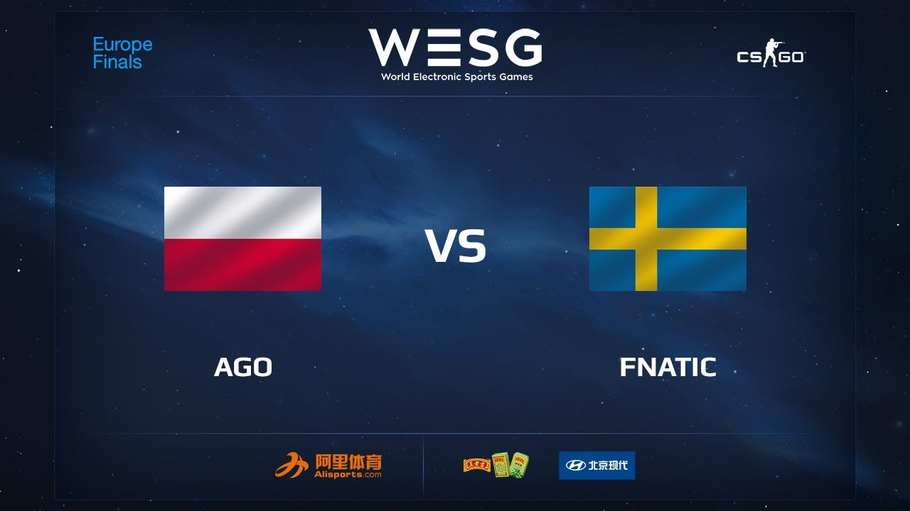 AGO vs fnatic, map 1 train, WESG 2017 CS:GO European Qualifier Finals