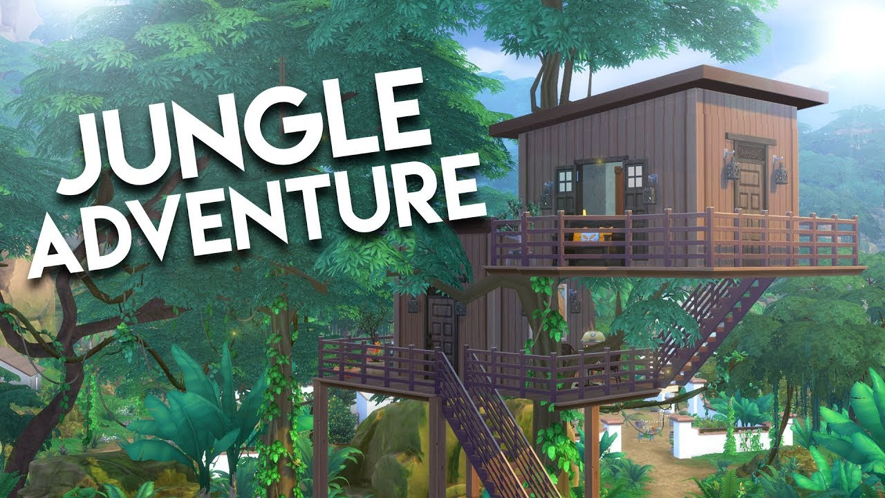 Jungle treehouse the sims 4 speed build youtube for Jungle house music