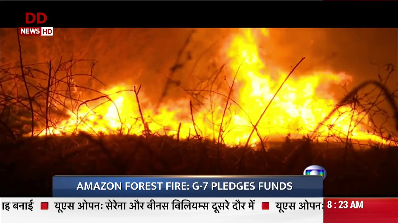 Amazon Forest Fire G 7 Pledges Funds Youtube