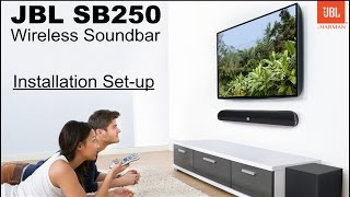 JBL SB250 Wireless Soundbar - Pairing and Setup