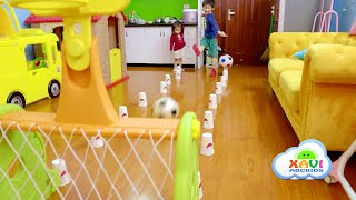 Xavi ABCKids and Baby Anna playing the indoor games for kids at home.