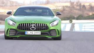 Best Cars:  Mercedes-AMG GT R 2017 - Test Drive on Racetrack