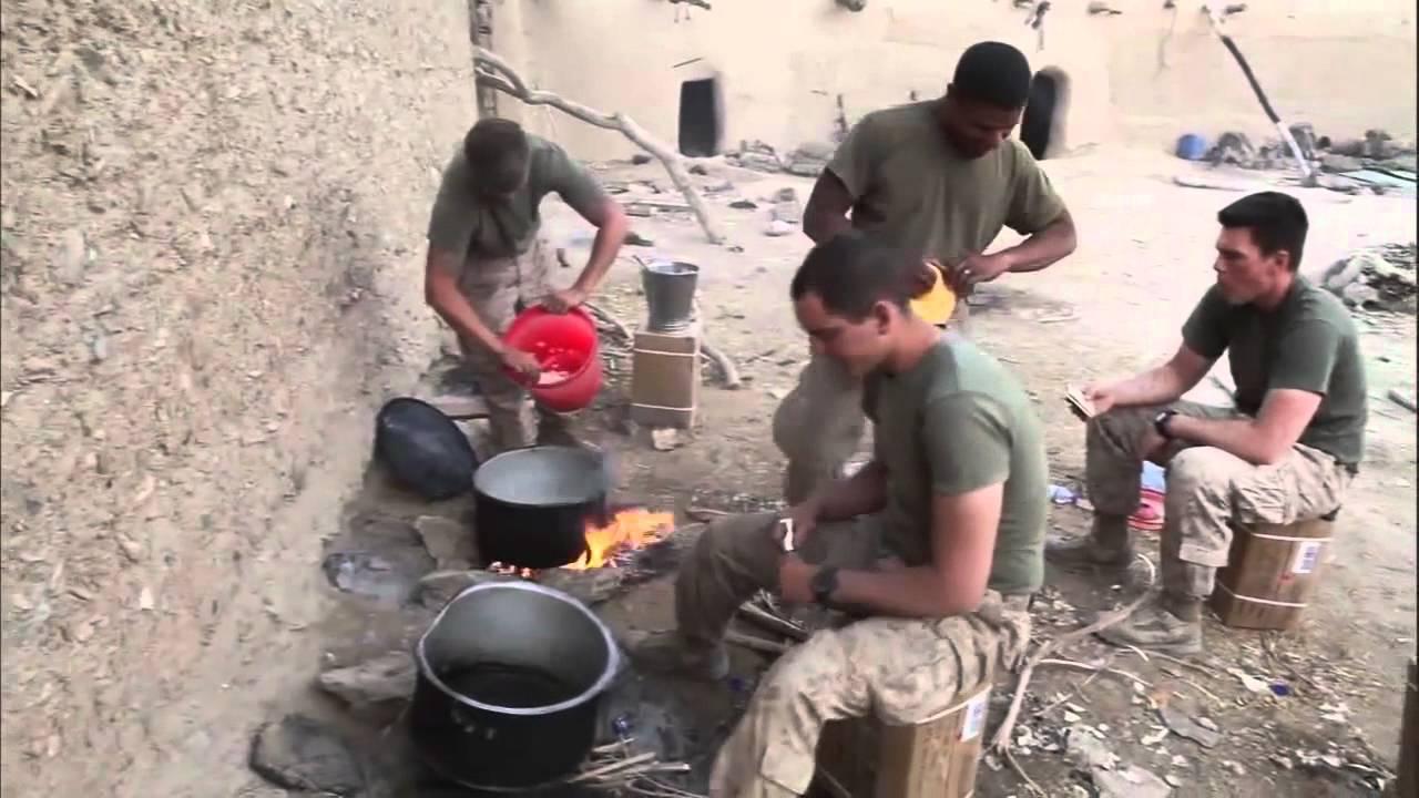 Marines break routine with Afghan cooking