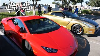 LAMBORGHINI VS NISSAN GTR - WHICH IS FASTER?!? - SUPERCARS