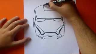Como dibujar a iron man paso a paso | How to draw iron man