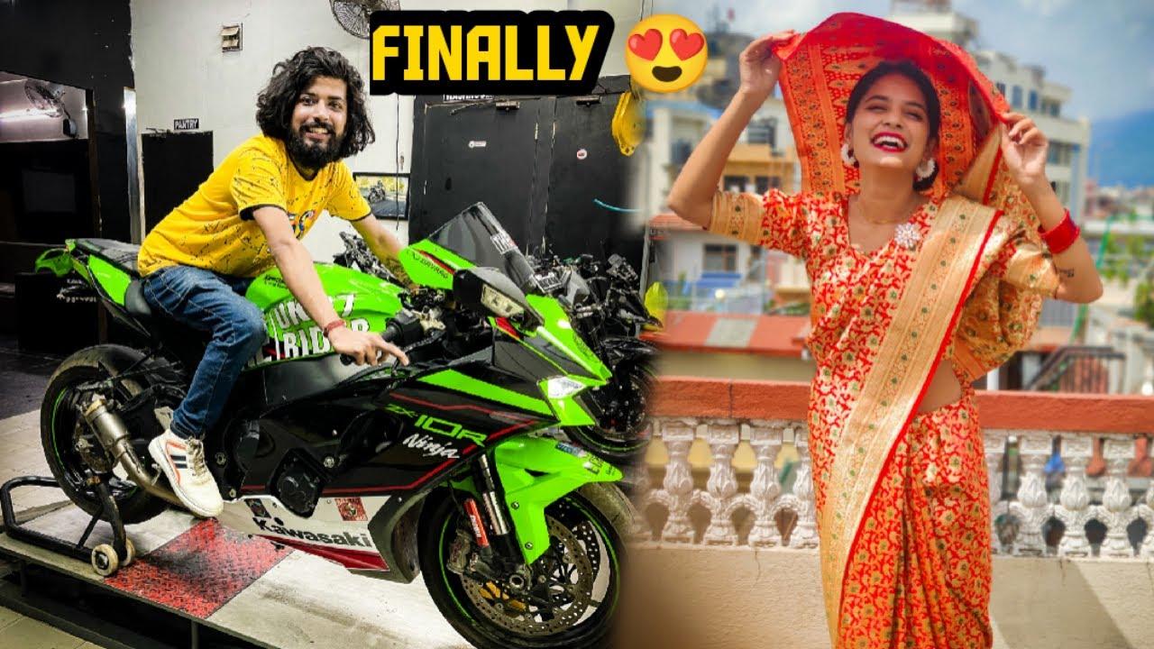 Aakhir Apni Echo Superbike Aahi Gayi Aur Savya Ke Liye Surprise 😃