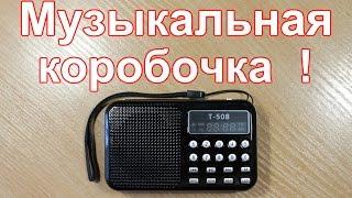 Портативное  fm радио T 508 с AliExpress.