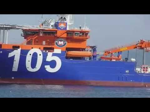 "Película del buque multiproposito ""LAY VESSEL NORTH OCEAN 105"""