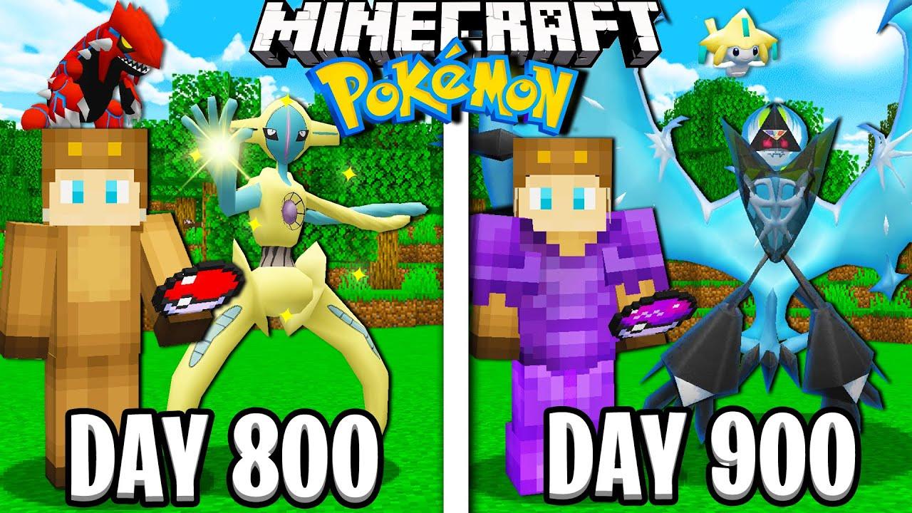 I Survived 900 Days in Minecraft POKEMON!