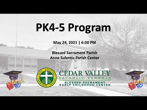 PK 4-5 program and graduation | Cedar Valley Catholic Schools