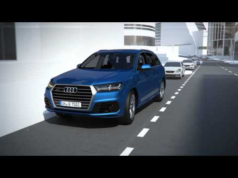 Audi Q7 driver assistance systems - Exit warning Animation