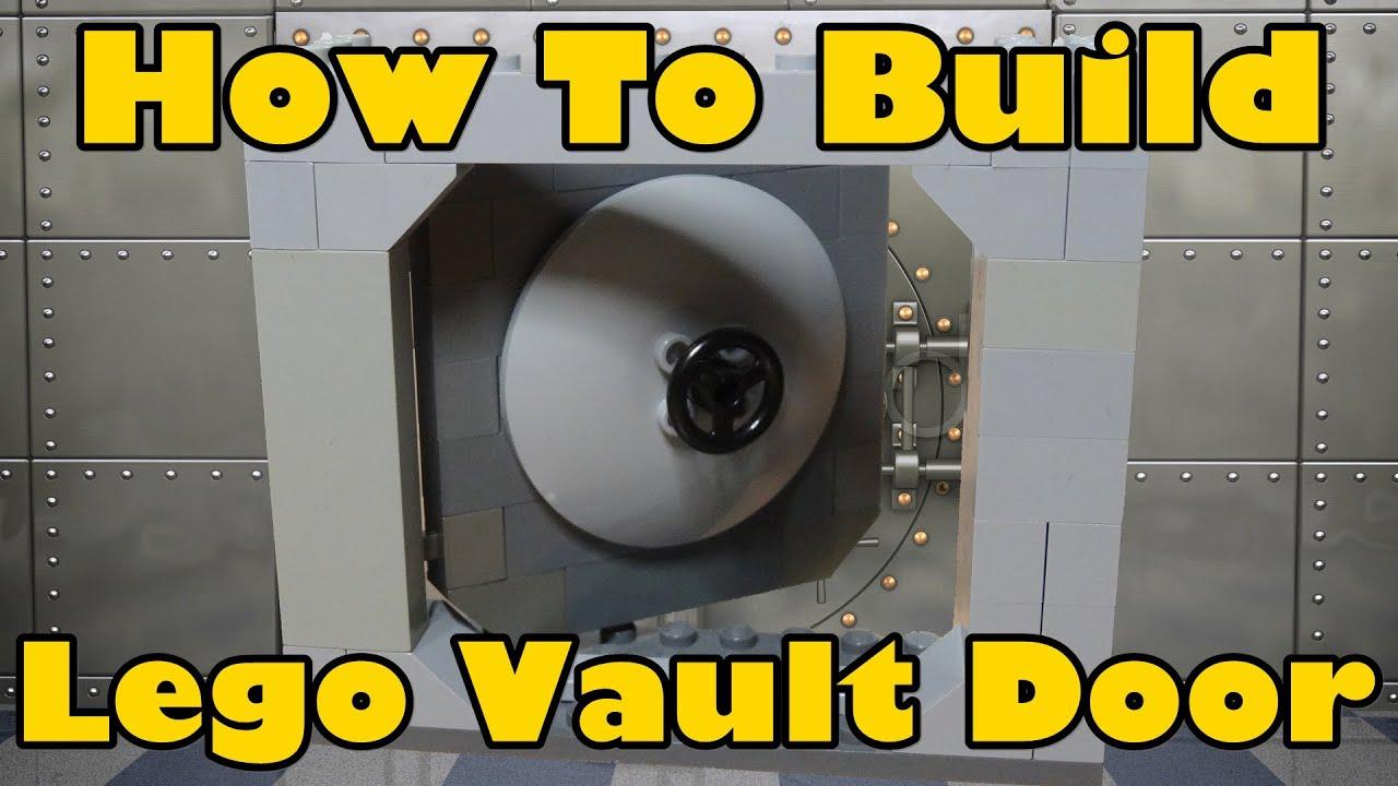 How To Build A Lego Lockable Vault Door Youtube