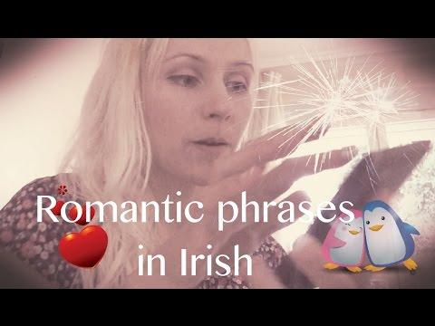 Romantic phrases in Irish asmr
