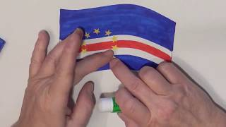 Learn geography for kids How to draw a flag Cape Verde