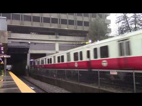 HD MBTA Commuter Rail Races Red Line Into Quincy Center