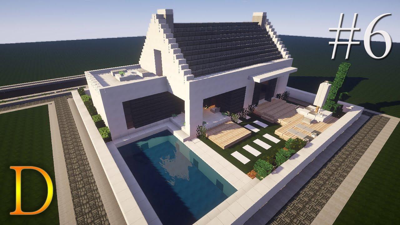 MINECRAFT PORADNIK  Jak zbudować Dom z basenem 35×35 [#6   -> Kuchnie Kaflowe Jak Zbudować