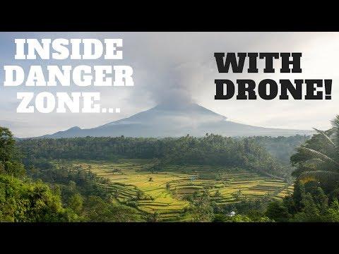 MOUNT AGUNG ERUPTION IN BALI. INSIDE THE DANGER ZONE