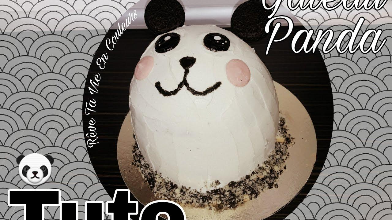 Un Gateau Panda Cake Design Facile Et Rapide Youtube