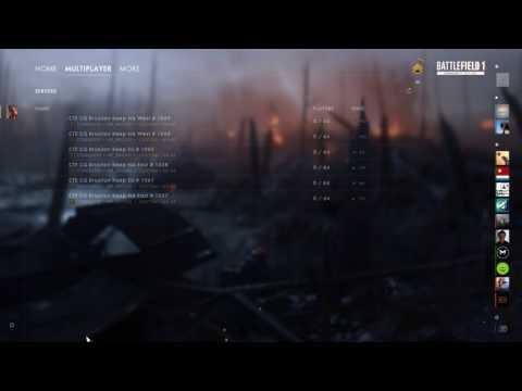 [PC] Battlefield 1 CTE — Menu Music 2 (5.8.2017)