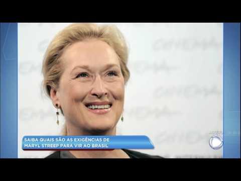 Hora da Venenosa: saiba quais são as exigências de Meryl Streep para vir ao Brasil