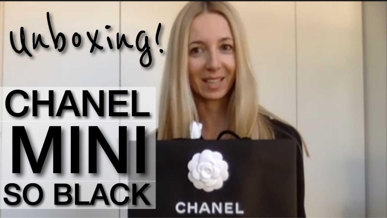 61929e7e7a74 CHANEL MINI RECTANGULAR FLAP SO BLACK 2017 - UNBOXING. ANNA IN WARSAW