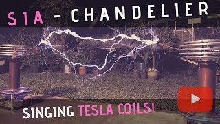 Sia - Chandelier Meets Singing Tesla Coils (Bobinas de Tesla)