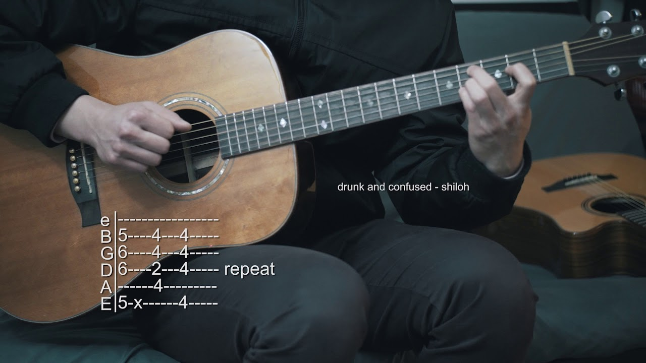 how to play drunk on guitar