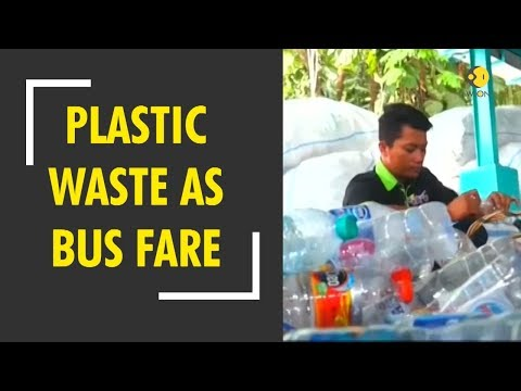 Indonesians can pay bus fare with plastic waste