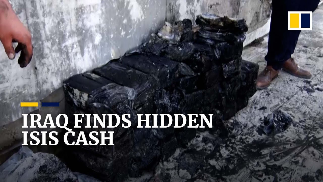Download Isis stash containing hundreds of bags of seized cash uncovered in Iraqi city of Mosul