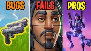 DUAL PISTOLS GLITCHED? BUGS vs FAILS vs PROS - Fortnite Battle Royale Funny Moments