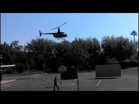 Fontana Police Department Helicopter Palmetto Elementary School Career Day California Inland Empire