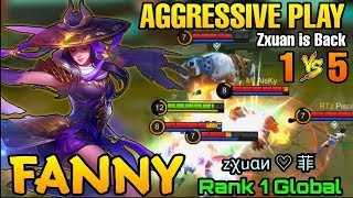 Zxuan is Back 2020!! Fanny Aggressive Plays - Top 1 Global Fanny zχuαи ♡ 菲 - Mobile Legends