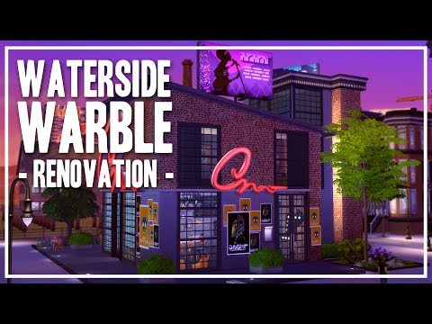 The Sims 4 Speed Build - [Renovation] Waterside Warble Karaoke Bar