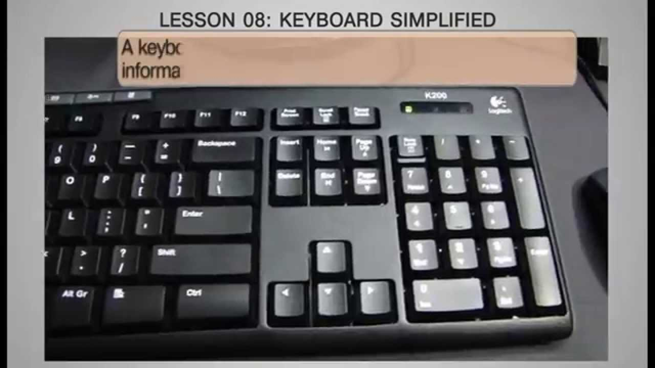 keyboard keys and their functions pdf