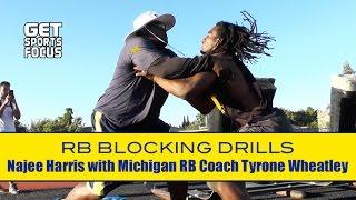 No. 1 Recruit Najee Harris with Michigan RB Coach Tyrone Wheatley