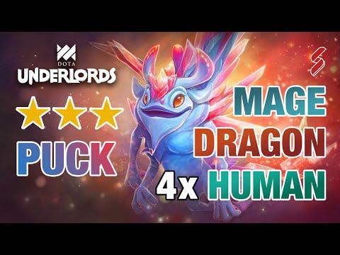 Mage Spirit Dragon Builds | 4x Human Easy Regen Mana | Dota Underlords Build